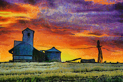 After Harvest - Digital Painting Print by Mark Kiver