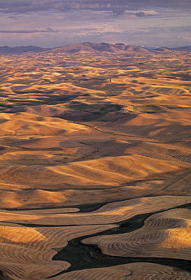 After Harvest From Steptoe Butte Print by Latah Trail Foundation