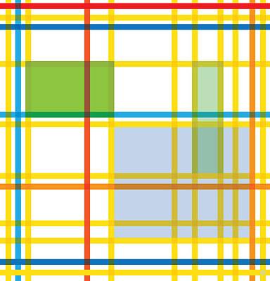 Abstract Pop Digital Art - After Mondrian by Gary Grayson