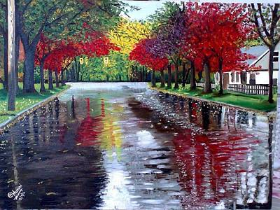 Painting - After Rain by A Ghouri