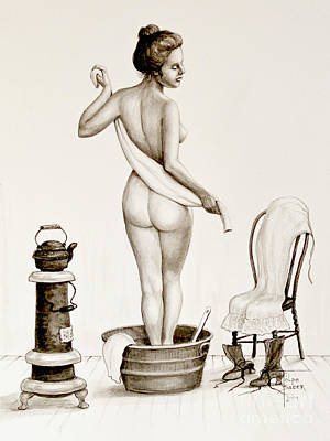 After The Bath 1890's Print by Art by - Ti   Tolpo Bader