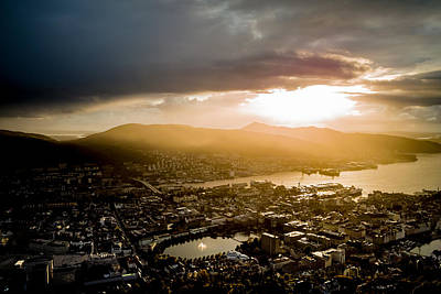 Lightscapes Photograph - After The Bergen Rain by Hakon Soreide