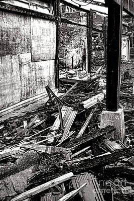 Mess Photograph - After The Fire by Olivier Le Queinec