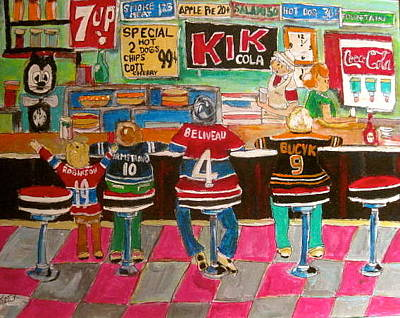 Seven Up Sign Painting - After The Game by Michael Litvack