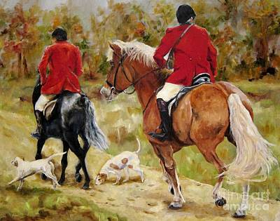 Autumn Painting - After The Hunt by Diane Kraudelt