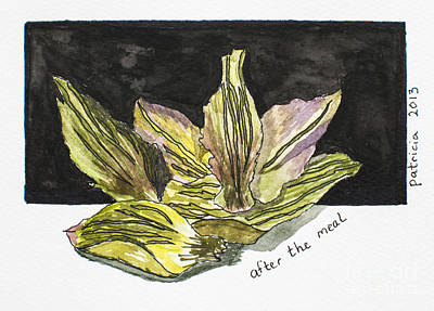 Artichoke Mixed Media - After The Meal by Patricia Gould