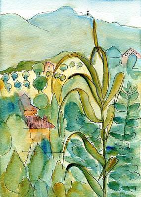 Tuscan Hills Drawing - After The Rain by Anita Bell