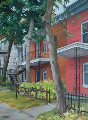 Neighbourhoods Painting - After The Rain Montreal by Rita-Anne Piquet