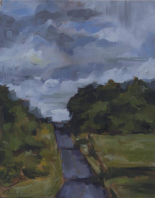 Summer Thunderstorm Painting - After The Storm by David Owens