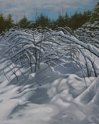 Winter Scene Painting - After The Storm by Jason Sawtelle