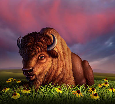 Bison Digital Art - After The Storm by Jerry LoFaro