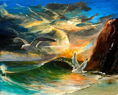 Seagull Painting - After The Storm by Patrick Rahming