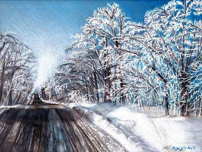 Snow Storm Drawing - After The Storm by Shana Rowe Jackson
