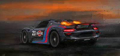 Martini Mixed Media - Afterburners On by Alan Greene
