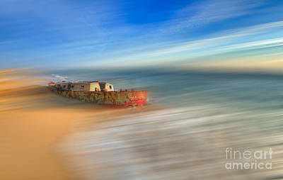 Abstract Beach Landscape Photograph - Aftermath - A Tranquil Moments Landscape by Dan Carmichael