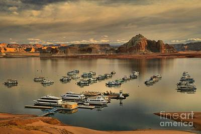 Afternoon At The Wahweap Marina Print by Adam Jewell