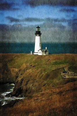 Afternoon At The Yaquina Head Lighthouse Print by Thom Zehrfeld