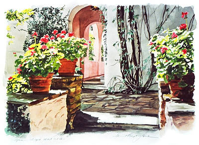 Blooming Painting - Afternoon Delight - Hotel Bel-air by David Lloyd Glover