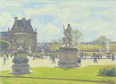 Daily Life Photograph - Afternoon In The Tuileries, Paris Oil On Canvas by Julian Barrow