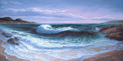 Sky Scape Painting - Afternoon On Carmel Bay by Del Malonee