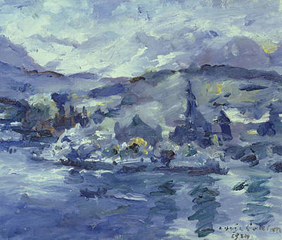 Cloudy Day Painting - Afternoon On Lake Lucerne by Lovis Corinth
