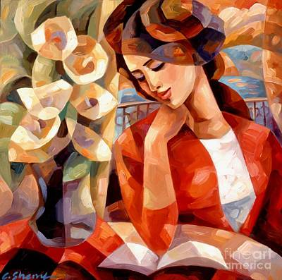 Woman Painting - Afternoon Reading by C Sherry