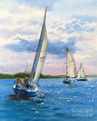 Afternoon Sail Print by Karol Wyckoff