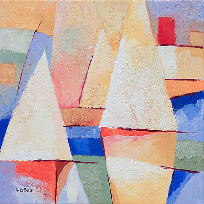 Colorfields Painting - Afternoon Sails by Lutz Baar
