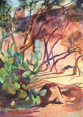 Ressler Painting - Afternoon Shadows In Mesilla New Mexico by John Ressler