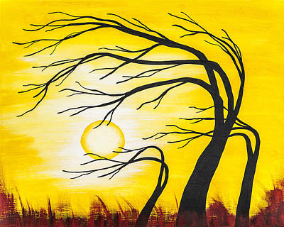 Gold Painting - Afternoon Silhouette by Melissa Smith