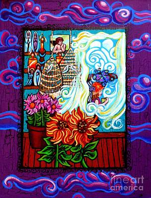 Afternoon Tea By The Window Original by Genevieve Esson