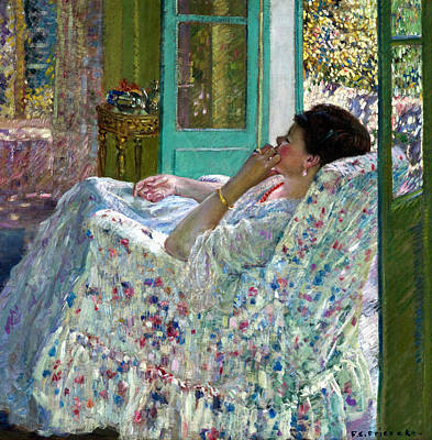 Afternoon Yellow Room Print by Carl Frieseke