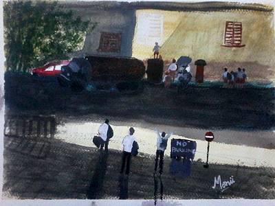 Schoolchildren Painting - Afterschool Mischief by Monii Nandy