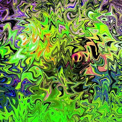 Aftershock Digital Art - Aftershock - Abstract Digital Art Original by Karl Jones