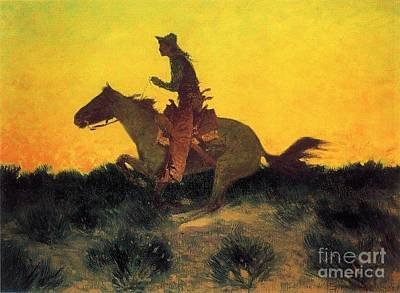 Sagebrush Painting - Against The Sunset by Pg Reproductions