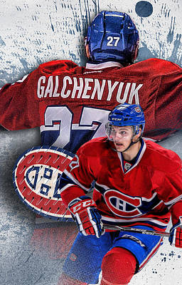 Montreal Canadiens Digital Art - Galchenyuk Phone Cover 2 by Nicholas Legault