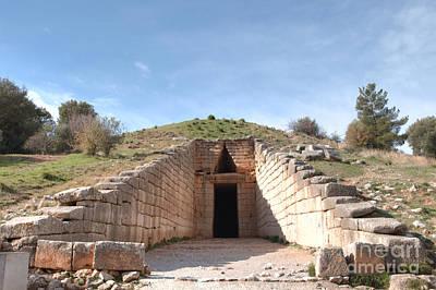 Greece Photograph - Agamemnon Tomb Mycenae by Deborah Smolinske