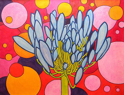 Painting - Agapanthus Wonder by Adel Nemeth