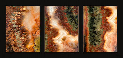 Agate Photograph - Agate Triptych 1 by Leland D Howard