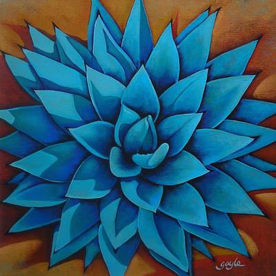 Aloe Painting - Agave II by Gayle Wisbon