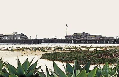 Agaves At The Wharf Print by Linda  Parker
