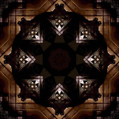 Aged Wood Kaleidoscope Print by Jim Finch