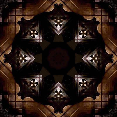 Indiana Scenes Digital Art - Aged Wood Kaleidoscope by Jim Finch