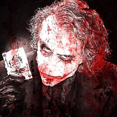 Heath Ledger Digital Art - Agent Of Chaos by David Kadwell