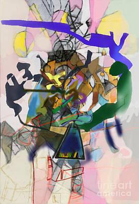 Inner Self Digital Art - Self-renewal 16h by David Baruch Wolk