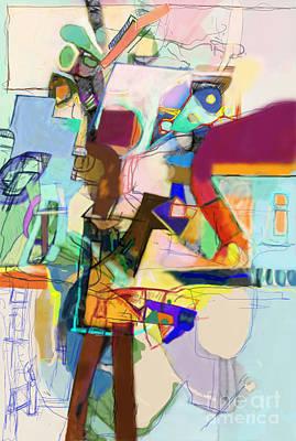 Inner Self Digital Art - Self-renewal 17j by David Baruch Wolk