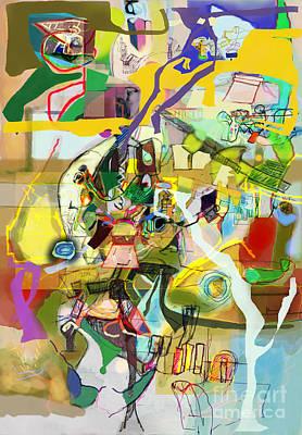 Inner Self Digital Art - Self-renewal 18o by David Baruch Wolk