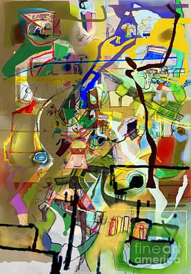 Inner Self Digital Art - Self-renewal 18q by David Baruch Wolk