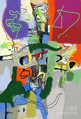 Inner Self Digital Art - Self-renewal 21h by David Baruch Wolk