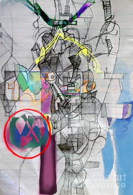 Inner Self Digital Art - Self-renewal  7g by David Baruch Wolk